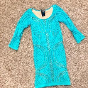 Bebe Blue Bodycon Dress